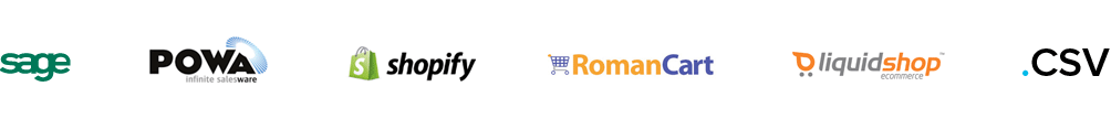 sage powa shopify roman cart liquidshop .csv