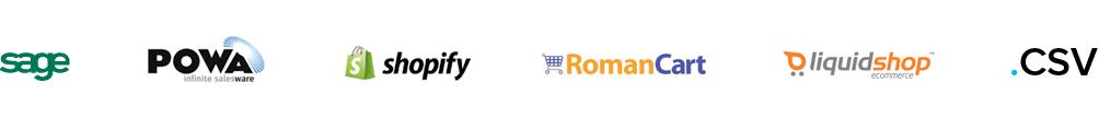 sage powa shopify roman cart liquidshop .csv